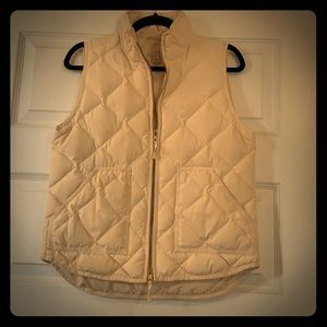 Quilted j.crew vest size small cream